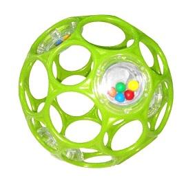 OBALL - Hračka RATTLE 10 cm, 0m+ zelená