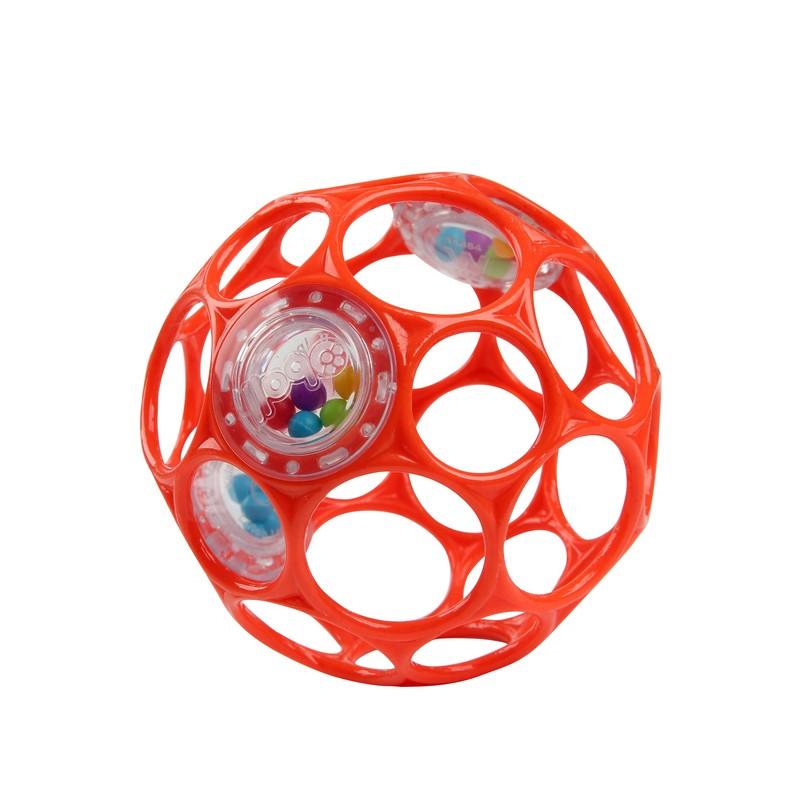 OBALL - Hračka RATTLE 10 cm orange 0m+
