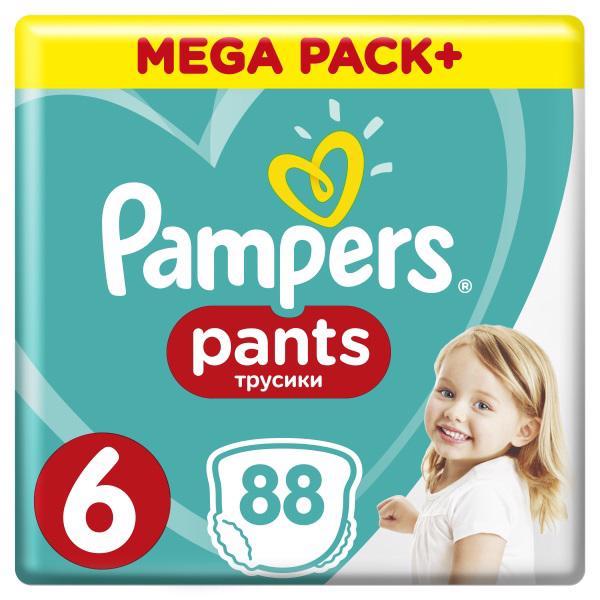 PAMPERS - Nohavičky plienkové ActivePants 6 EXTRA LARGE 16+kg 88ks