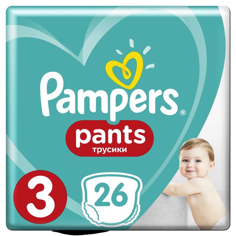 PAMPERS - Nohavičky plienkové Pants 3 MIDI 6-11kg 26ks