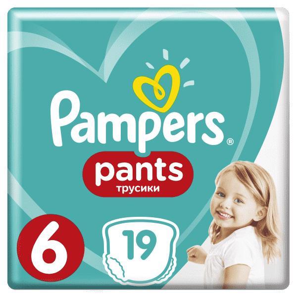 PAMPERS - Nohavičky plienkové Pants 6 EXTRA LARGE 15+kg 19ks