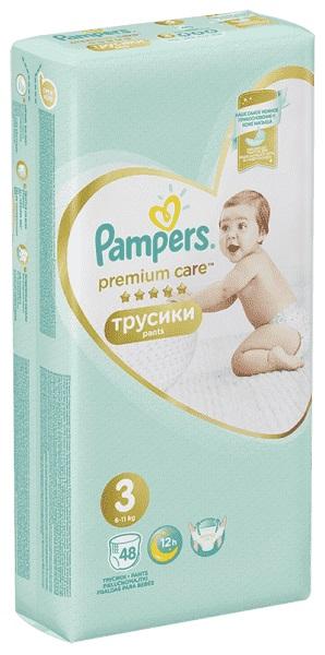 PAMPERS - Nohavičky plienkové Premium Care Pants 3 MIDI 6-11kg 48ks