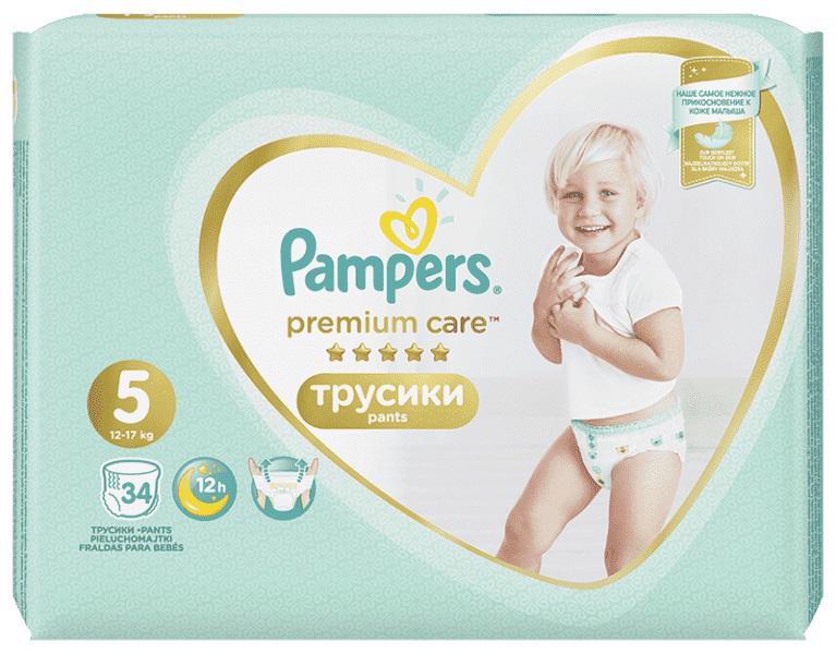 PAMPERS - Nohavičky plienkové Premium Care Pants 5 JUNIOR 12-18kg 34ks