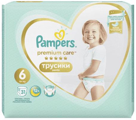 PAMPERS - Nohavičky plienkové Premium Care Pants 6 EXTRA LARGE 16kg+ 31ks