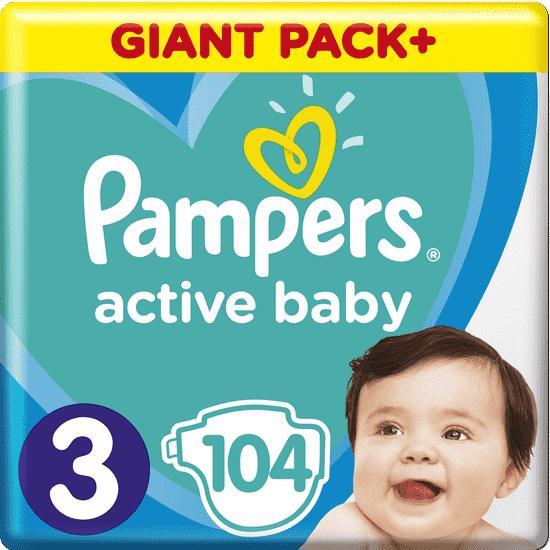 PAMPERS - Plienky Active Baby 3 MIDI 6-10kg 104ks