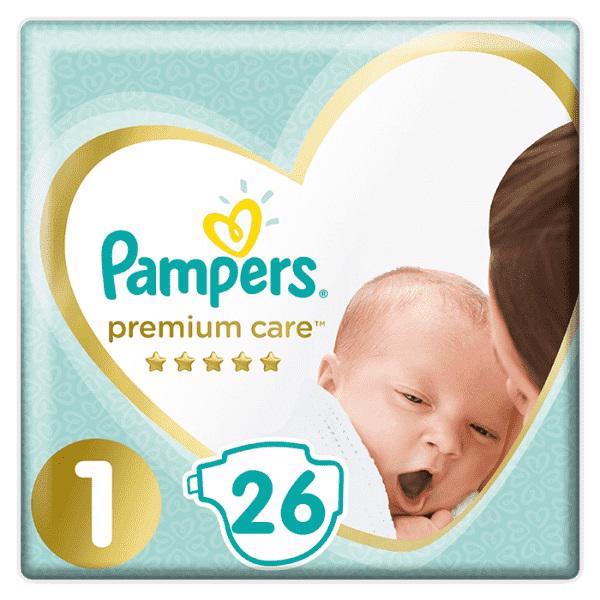 PAMPERS - Plienky Premium Care 1 NEWBORN 2-5kg 26 ks