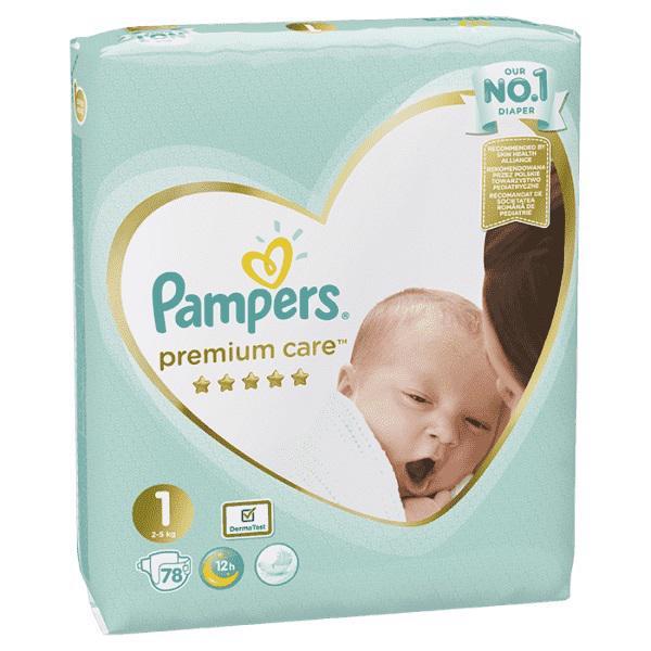 PAMPERS - Plienky Premium Care 1 NEWBORN 2-5kg 78 ks