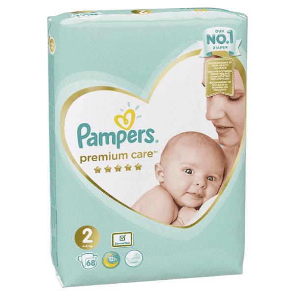 PAMPERS - Plienky Premium Care 2 MINI 4-8kg 68 ks