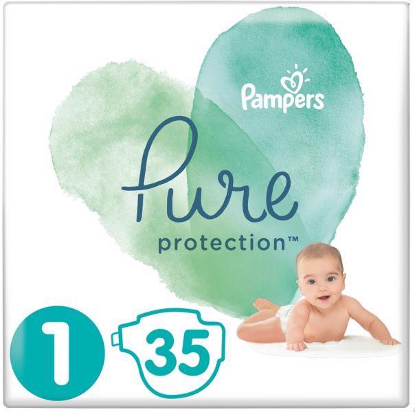 PAMPERS - Plienky Pure Protection 1 NEWBORN 2-5kg 35ks