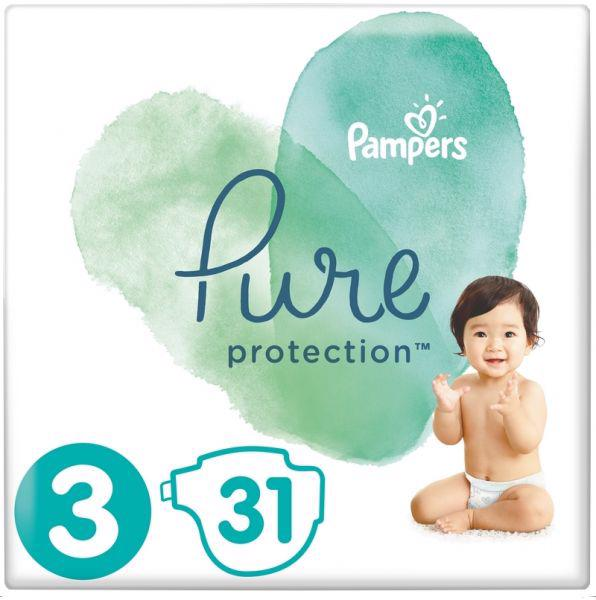 PAMPERS - Plienky Pure Protection 3 MIDI 6-10kg 31ks