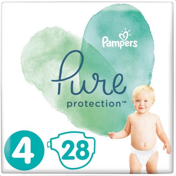 PAMPERS - Plienky Pure Protection 4 MAXI 9-14kg 28ks