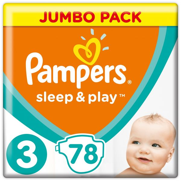 PAMPERS - Plienky Sleep&Play Jumbo Pack 3 MIDI 6-10kg 78ks
