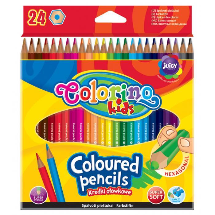 PATIO - Colorino pastelky hexagonálne 24 farieb