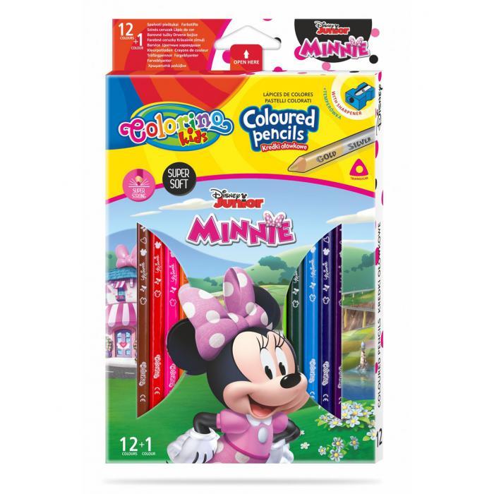 PATIO - Colorino pastelky Minnie Trio 13 farieb