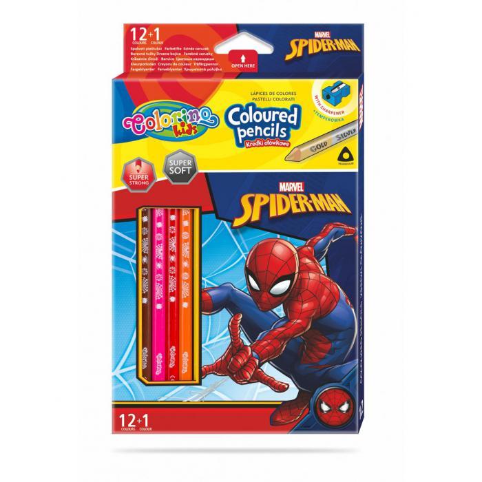 PATIO - Colorino pastelky Spiderman Trio 13 farieb