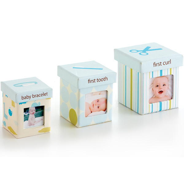 PEARHEAD - Set krabičiek Little Keepsake - modrý