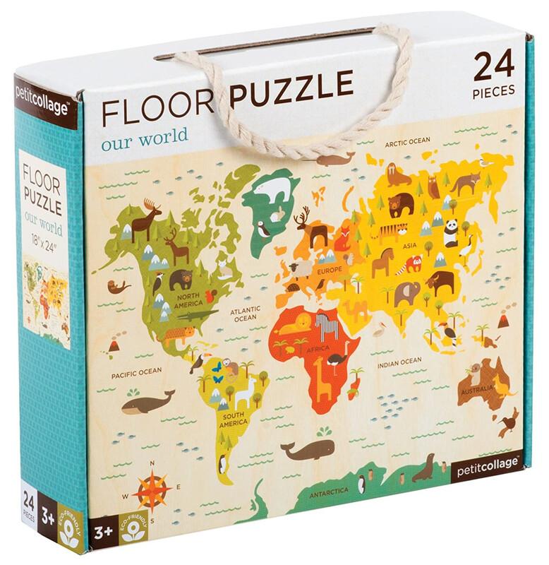 PETIT COLLAGE - Podlahové puzzle náš svet