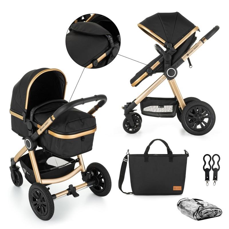 PETITE&MARS - Kočík kombinovaný 2v1 Grand II Golden Ebony