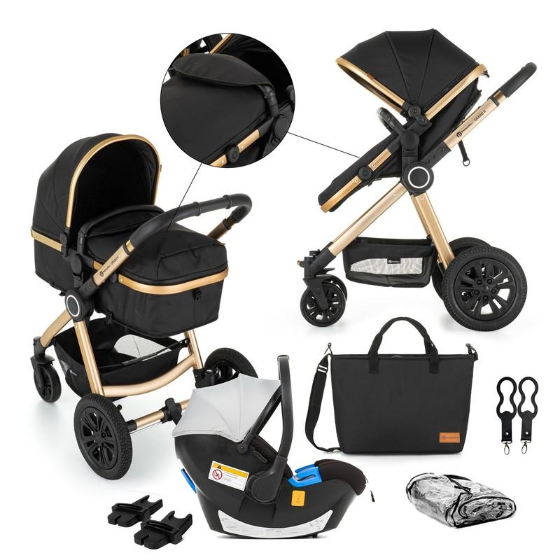 PETITE&MARS - Kočík kombinovaný 3v1 Grand II Golden Ebony