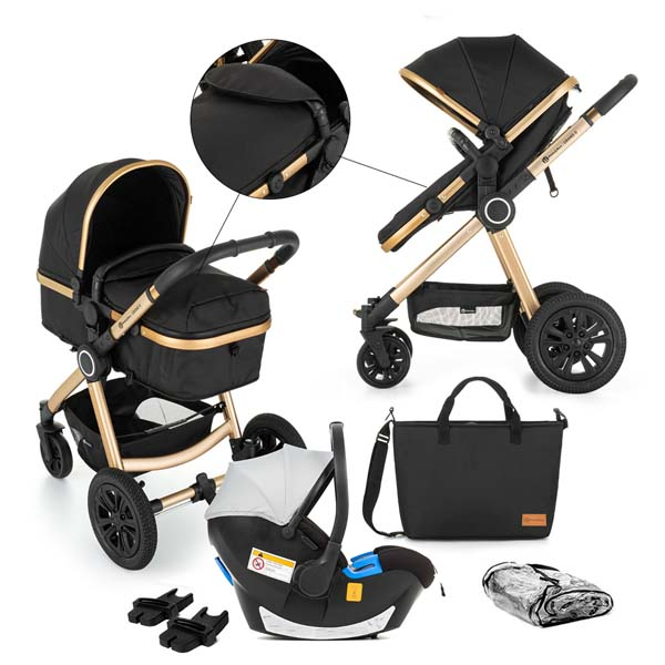 PETITE&MARS - Kočík kombinovaný 3v1 Grand - II Golden Ebony