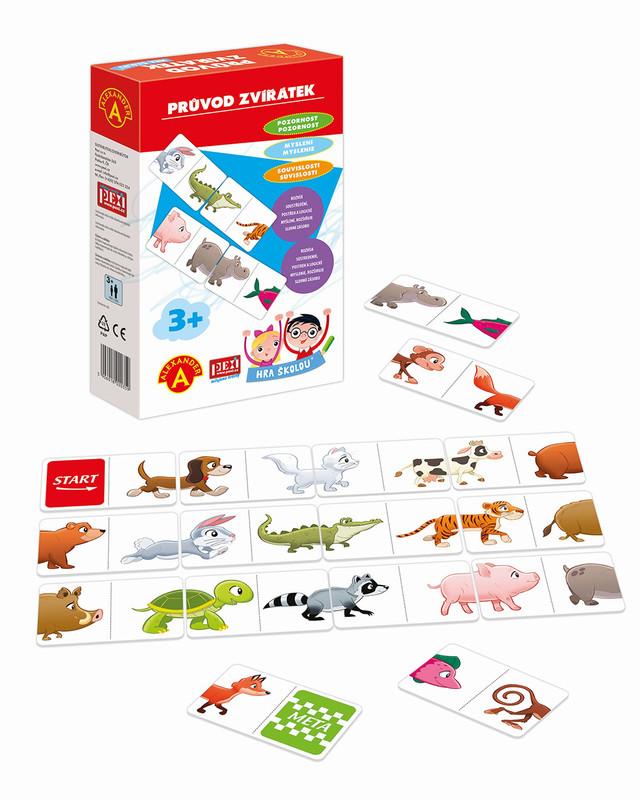 PEXI - Hra školou - sprievod zvieratiek