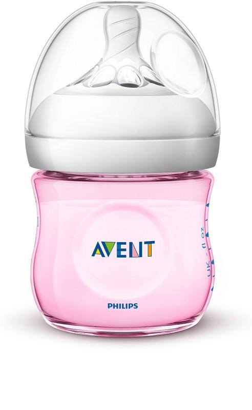 PHILIPS AVENT - Avent fľaša 125ml Natural.2 PP ružová