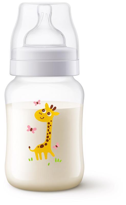 PHILIPS AVENT - Avent fľaša 260ml Antikolik žirafa