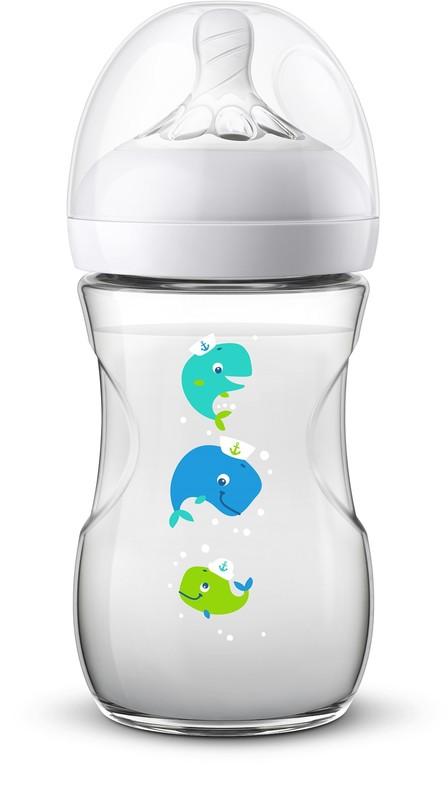 PHILIPS AVENT - Avent fľaša 260ml Natural.2 PP veľryba