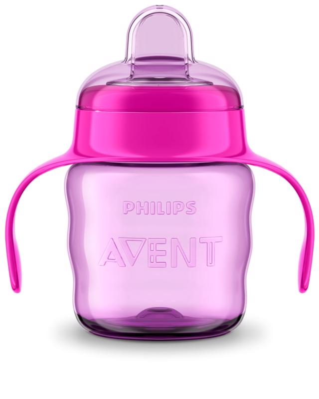 PHILIPS AVENT - Avent hrnček pre prvé dúšky Klasik 200 ml s držadlami dievča