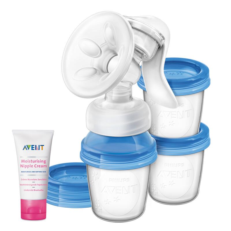 PHILIPS AVENT - Odsávačka materského mlieka Natural s VIA systémem + Krém na bradavky 30 ml
