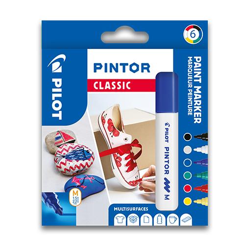 "PILOT - Dekoračný popisovač ""Pintor Classic"", sada 6 ks, hrot M"