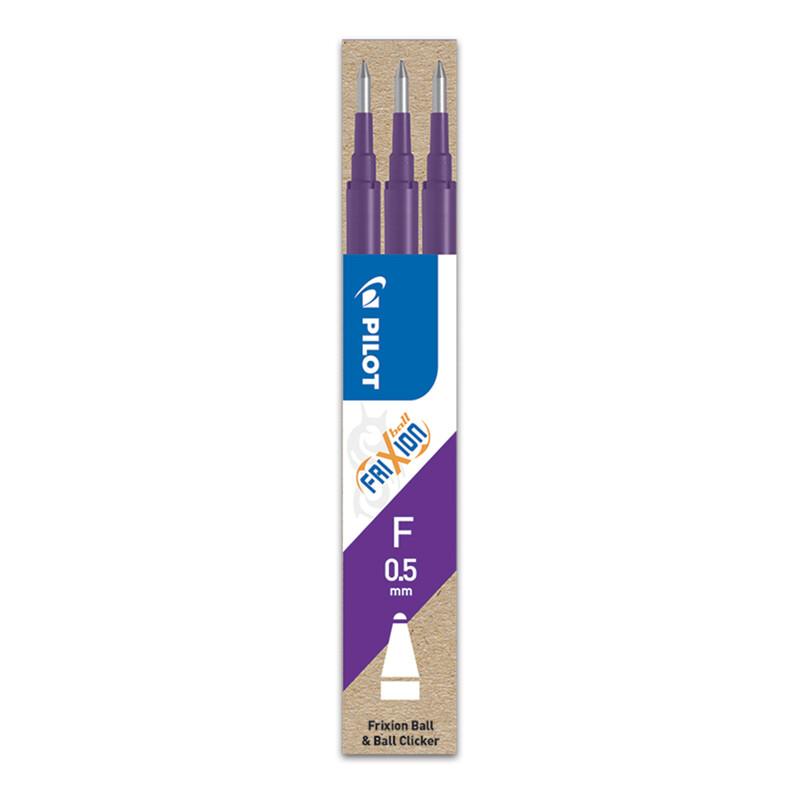 PILOT - Náplň gumovacia Frixion 0,5 mm/3 ks - fialová