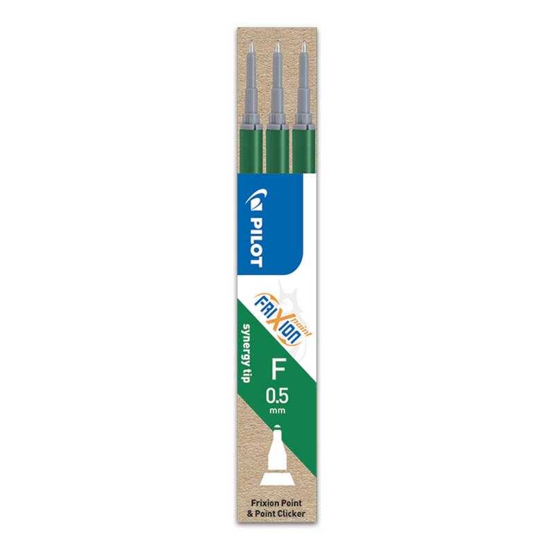 PILOT - Náplň gumovacia Frixion 0,5 mm/3 ks Micro hrot - zelená
