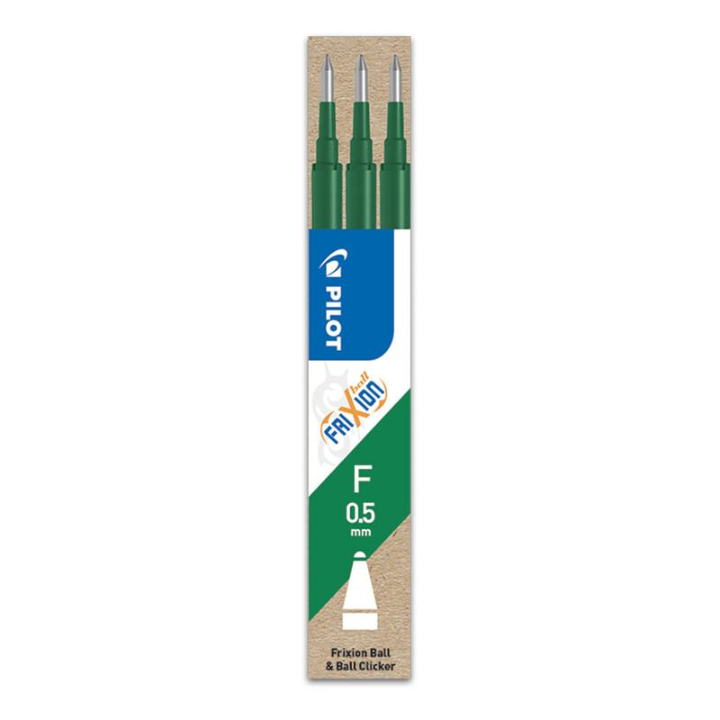 PILOT - Náplň gumovacia Frixion 0,5 mm/3 ks - zelená