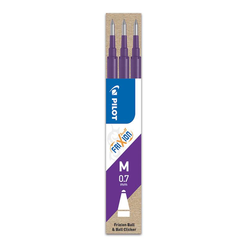 PILOT - Náplň gumovacia Frixion 0,7 mm/3 ks - fialová