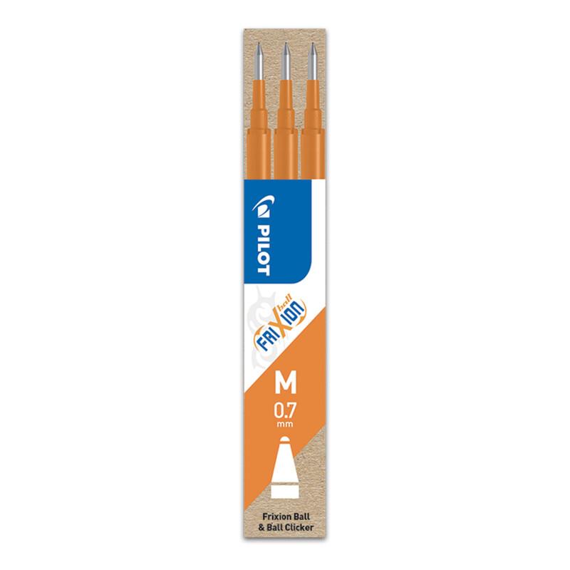 PILOT - Náplň gumovacia Frixion 0,7 mm/3 ks - oranžová