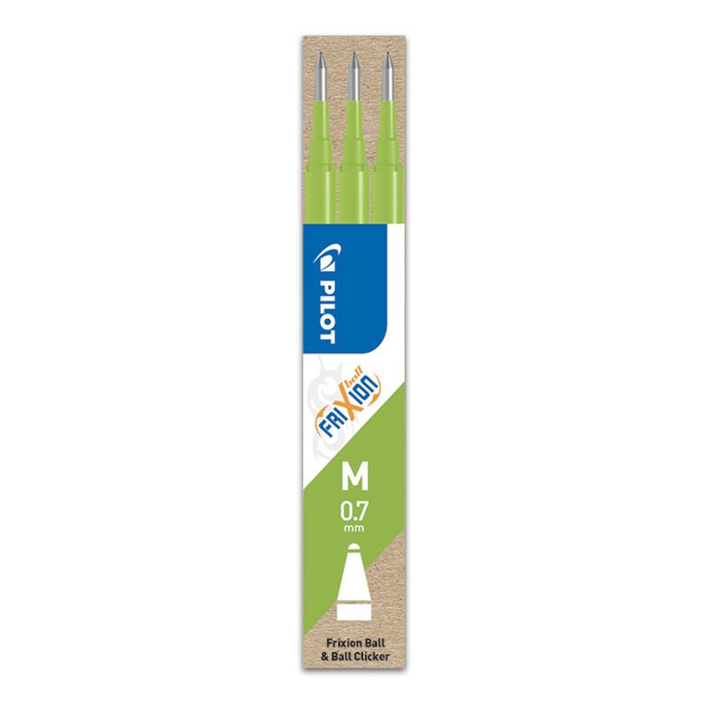 PILOT - Náplň gumovacia Frixion 0,7 mm/3 ks - svetlo zelená