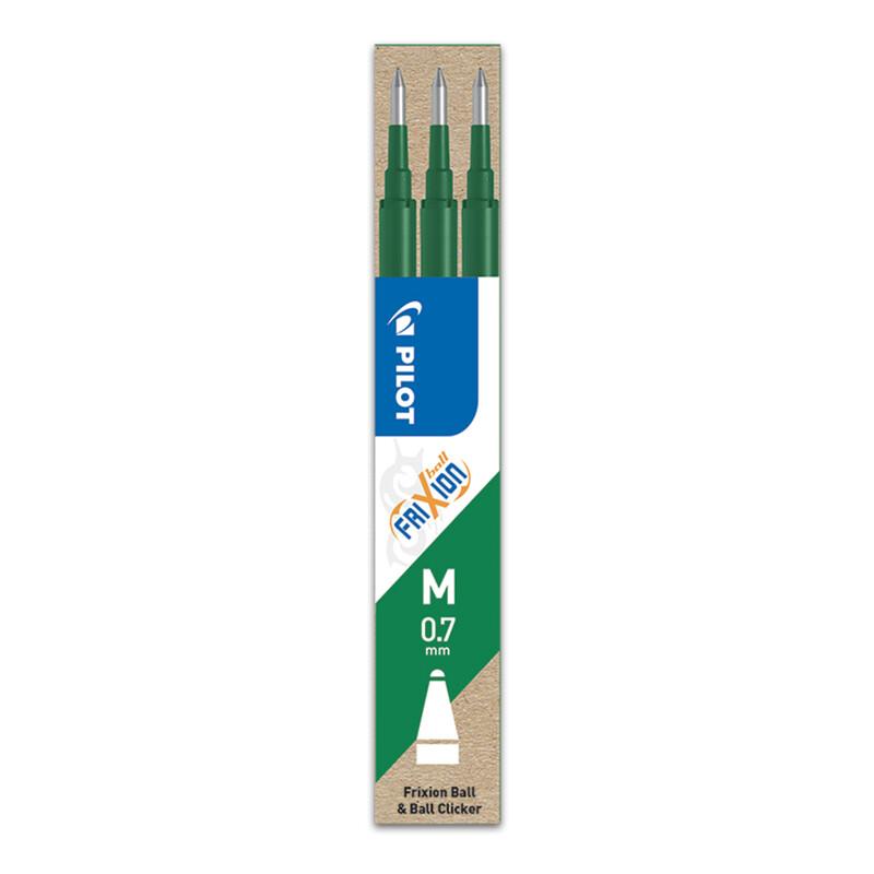 PILOT - Náplň gumovacia Frixion 0,7 mm/3 ks - zelená