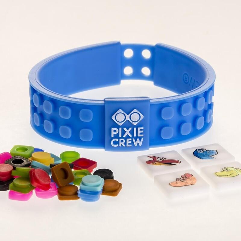 PIXIE CREW - Kreatívny DINO náramok modrý