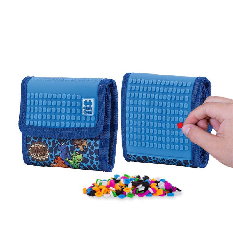 PIXIE CREW - peňaženka Dino modrá