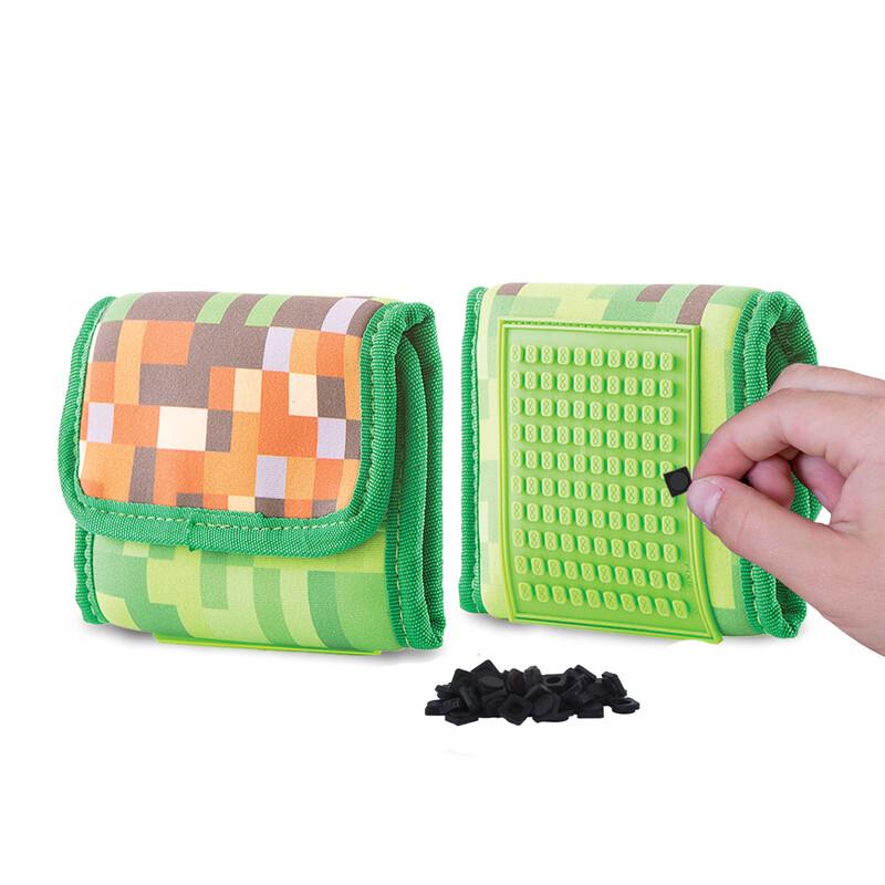 PIXIE CREW - peňaženka Minecraft zeleno-hnedá