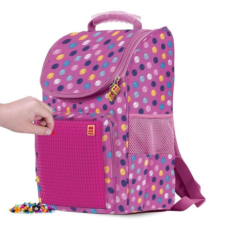 PIXIE CREW - Školská taška bubblegum ružová 21 l
