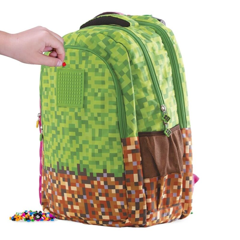 PIXIE CREW - študentský batoh Minecraft zeleno-hnedý