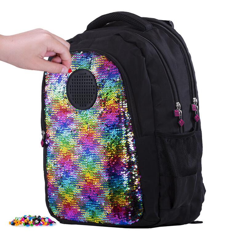 PIXIE CREW - študentský batoh s flitrami