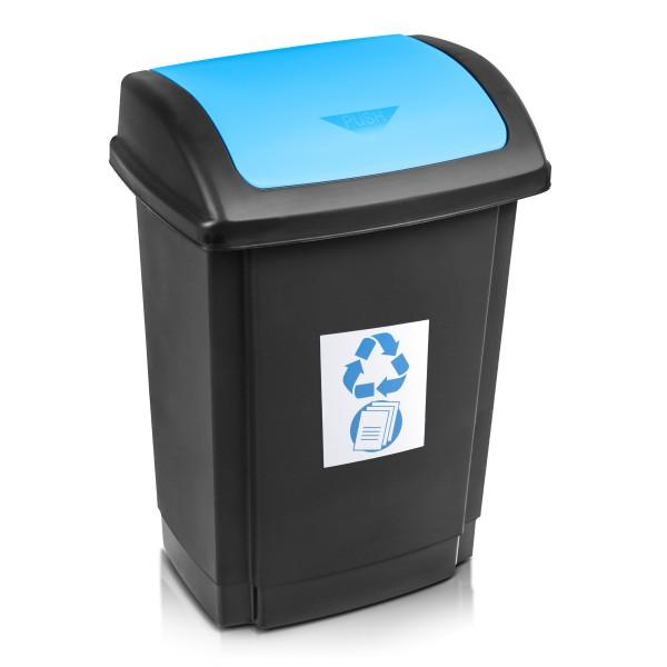 PLAST TEAM - Kôš na odpad recyklovaný 25l modrý