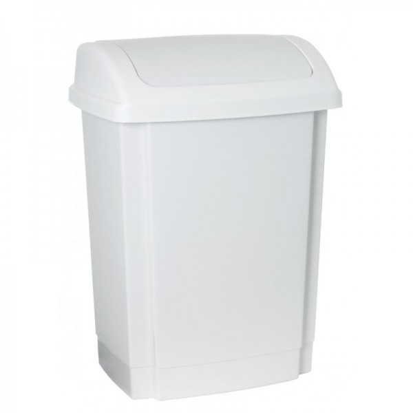 PLAST TEAM - Kôš na odpad SWING 15l biely