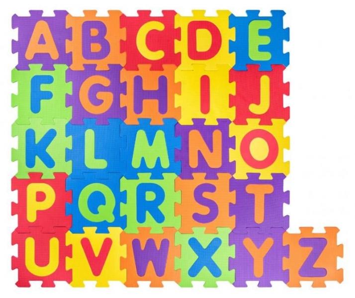 PLASTICA - Plastica Penové podlahové puzzle Abeceda - 52 ks