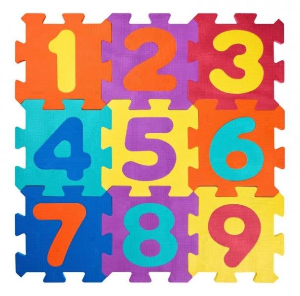 PLASTICA - Plastica Penové podlahové puzzle Čísla - 18 ks