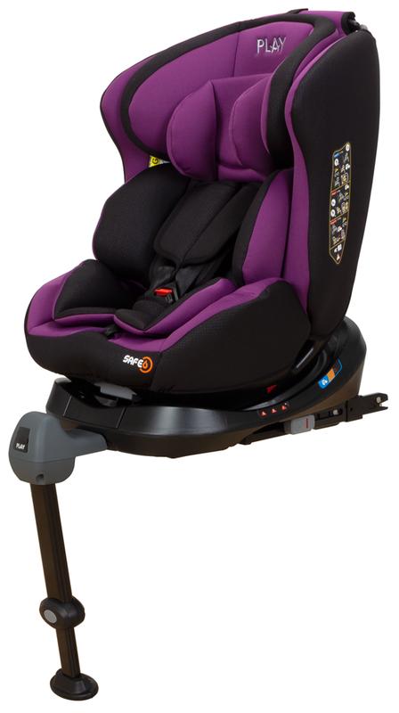 PLAY - Autosedačka Safe 6 - Dino (Purple)