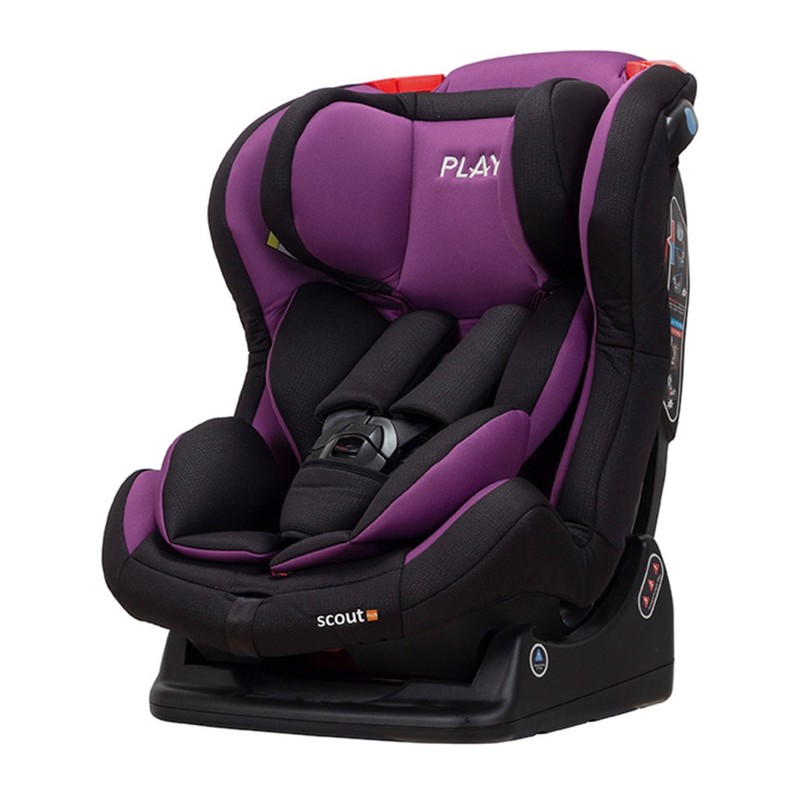 PLAY - Autosedačka Scout Plus - Dino (Purple)